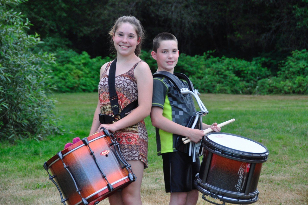 Dana and brother Cameron Johnston are both drummers with the RMM Grade 3 band