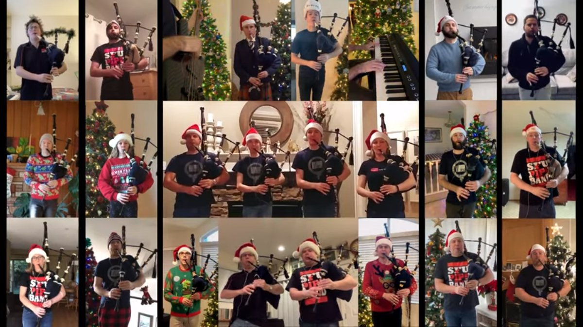 SFU-Pipe-Band-Pipers-Matrix---Santa-Claus-Is-Coming-To-Town