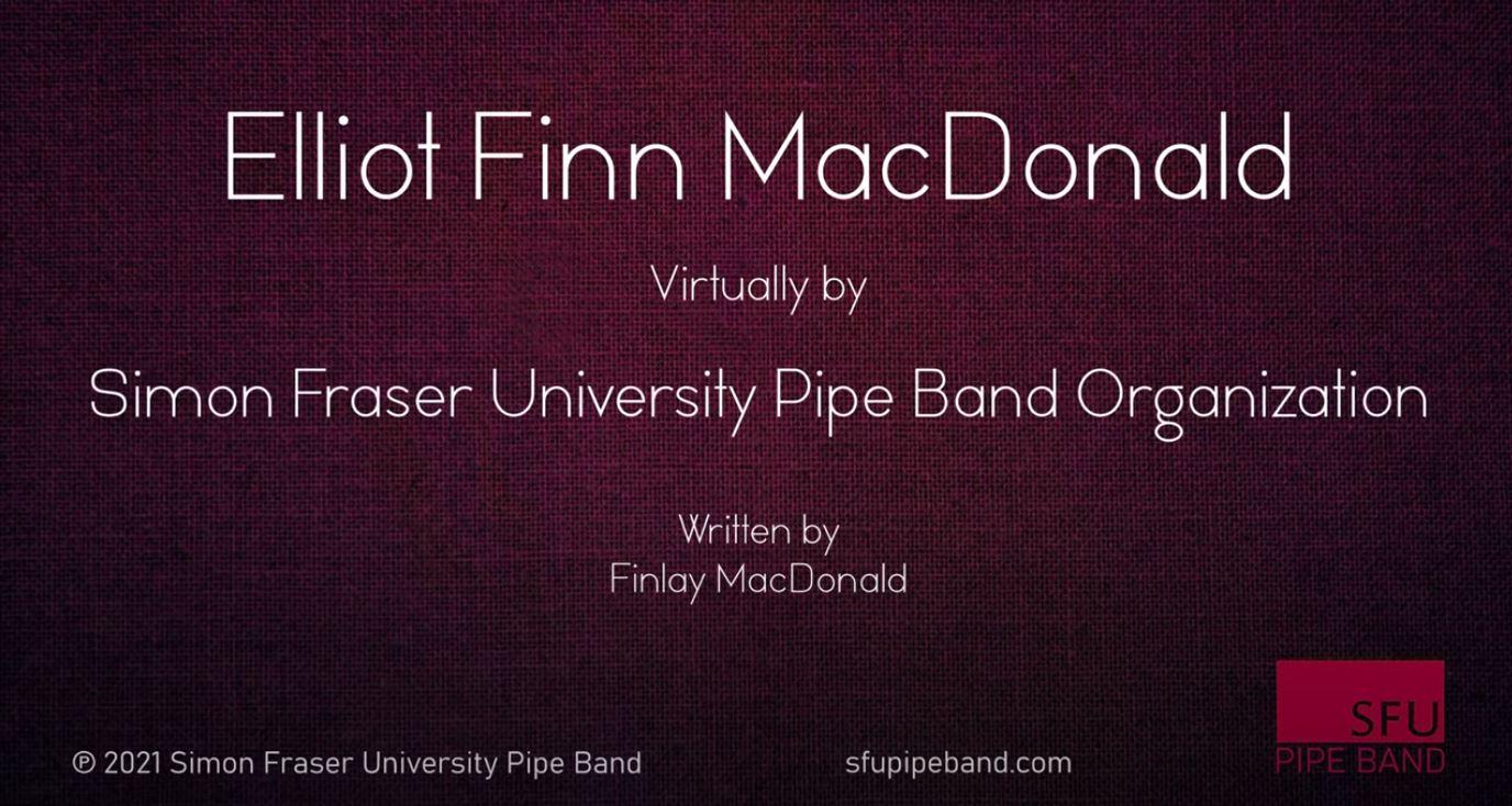 SFU-Pipe-Band-Pipers-Elliot Finn MacDonald
